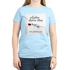 Author Sylvia Day Women's Pink T-Shirt