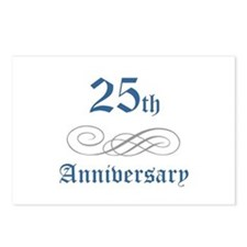 Elegant 25th Anniversary Postcards (Package of 8)