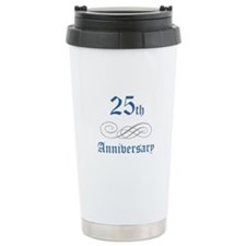 Elegant 25th Anniversary Travel Mug
