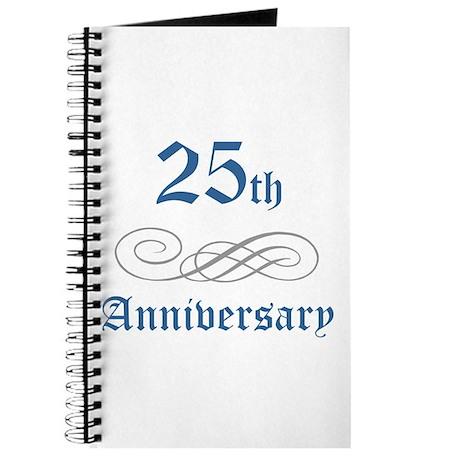 Elegant 25th Anniversary Journal