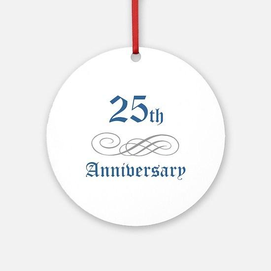 Elegant 25th Anniversary Ornament (Round)
