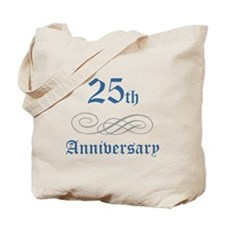 Elegant 25th Anniversary Tote Bag