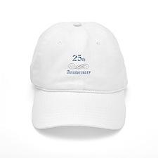 Elegant 25th Anniversary Baseball Cap