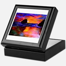 Fine Art Haystack Rock Sunset Keepsake Box
