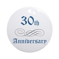 Elegant 30th Anniversary Ornament (Round)