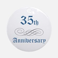 Elegant 35th Anniversary Ornament (Round)