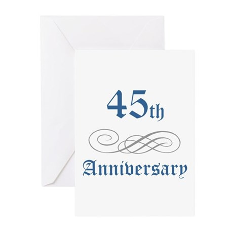 Elegant 45th Anniversary Greeting Cards (Pk of 10)