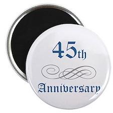 Elegant 45th Anniversary Magnet