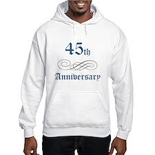 Elegant 45th Anniversary Hoodie