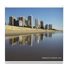 Gold Coast Reflections Tile Coaster
