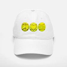 Peace, Love, Softball Baseball Baseball Cap
