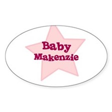 Baby Makenzie Oval Decal