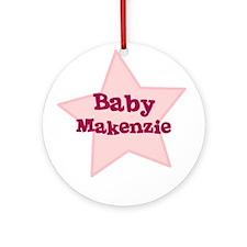 Baby Makenzie Ornament (Round)