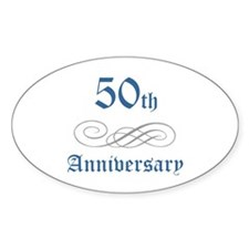 Elegant 50th Anniversary Oval Decal