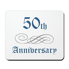 Elegant 50th Anniversary Mousepad