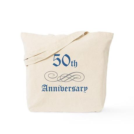 Elegant 50th Anniversary Tote Bag