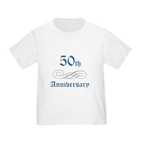 Elegant 50th Anniversary Toddler T-Shirt