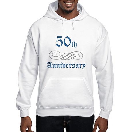 Elegant 50th Anniversary Hooded Sweatshirt
