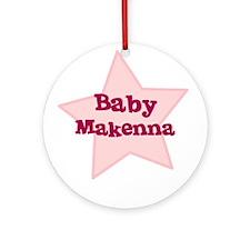 Baby Makenna Ornament (Round)