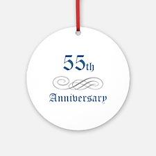 Elegant 55th Anniversary Ornament (Round)