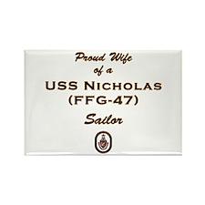 USS Nicholas Wife Rectangle Magnet