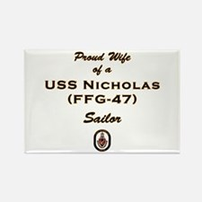 USS Nicholas Wife Rectangle Magnet