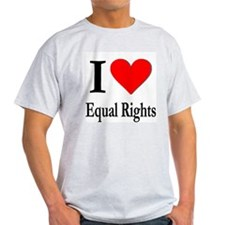 I Love Equal Rights Ash Grey T-Shirt