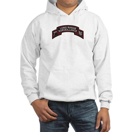 7th Infantry LRS Scroll, Clr Hooded Sweatshirt