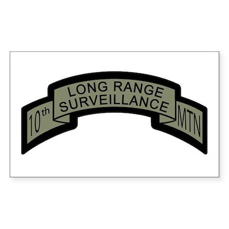 10th MTN Long Range Surveilla Rectangle Sticker