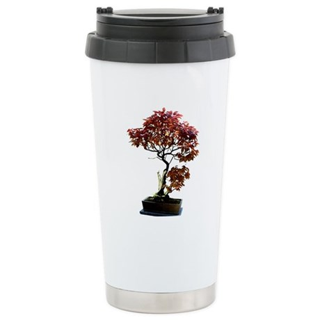 Red Leaf Bonsai Stainless Steel Travel Mug