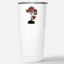 Red Leaf Bonsai Stainless Steel Travel Mug
