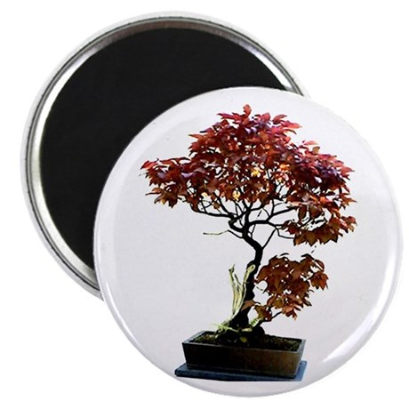 "Red Leaf Bonsai 2.25"" Magnet (100 pack)"
