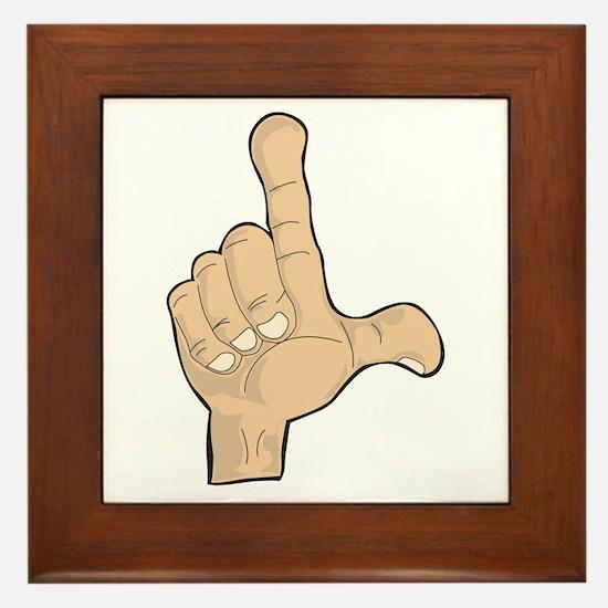 Hand - Loser Fingers Framed Tile