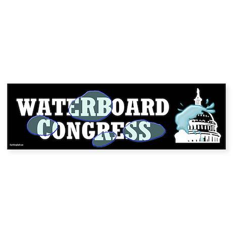 Waterboard Congress Bumper Sticker