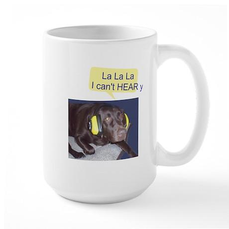 Dog Not Listening Large Mug