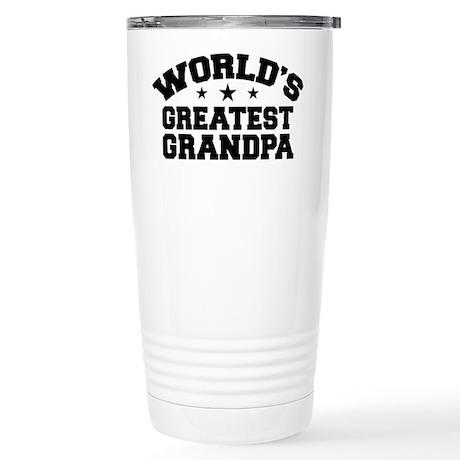 World's Greatest Grandpa Stainless Steel Travel Mu