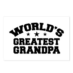 World's Greatest Grandpa Postcards (Package of 8)