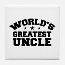 World's Greatest Uncle Tile Coaster