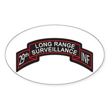 29th Infantry LRS Scroll, Clr Oval Decal