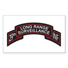 29th Infantry LRS Scroll, Clr Rectangle Decal