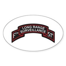 F Co 51st Infantry LRS Scroll Oval Decal