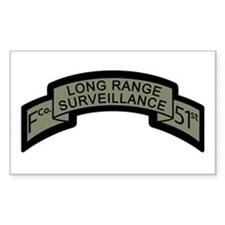 F Co. 51st Infantry Long Rang Rectangle Decal