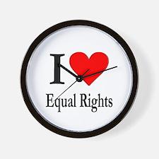 I Love Equal Rights Wall Clock