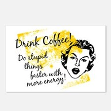 Drink Coffee Postcards (Package of 8)