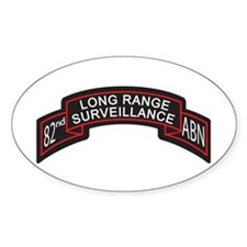 82nd Airborne LRS Scroll, Clr Oval Decal