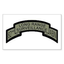82nd Airborne Long Range Surv Rectangle Decal