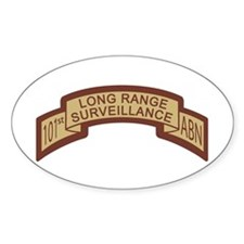 101st Airborne LRS Scroll, Ds Oval Decal