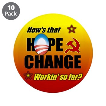 "Hope & Change 3.5"" Button (10 pack)"