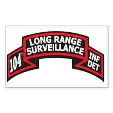 104th LRS Scroll Rectangle Decal