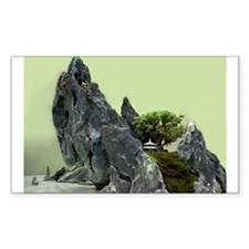 Mountain Bonsai Rectangle Decal